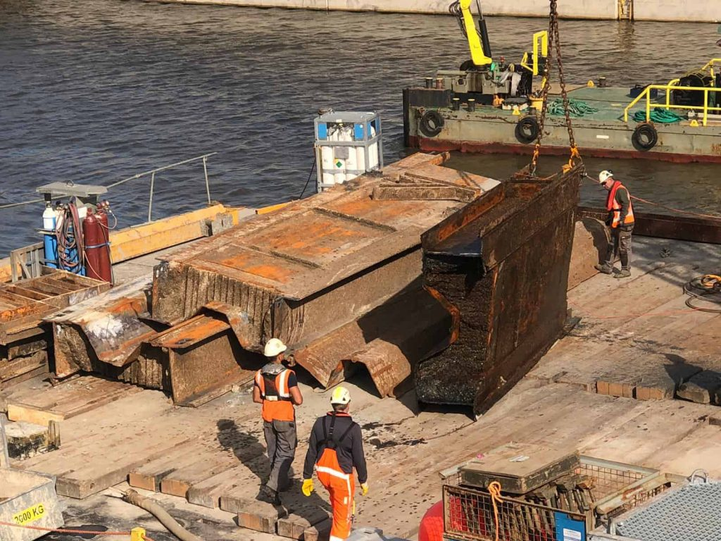 Result PVL Cutting torch ijmuiden Sea Lock Replacement(12)